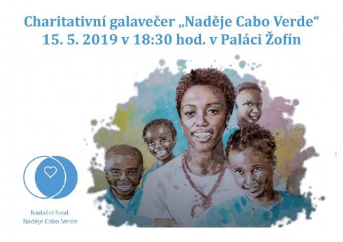 Charitativní galavečer Naděje Cabo Verde 15. 5. 2019