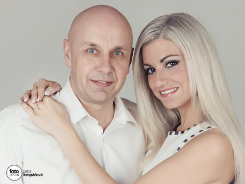 Jiří Morštadt s přítelkyní Žanetou