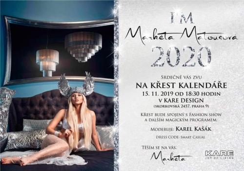 Křest kalendáře I'm Markéta Matoušová 2020